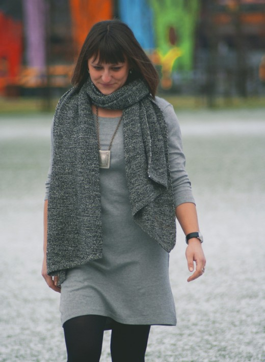 15.03.18 Grey vero moda dress2