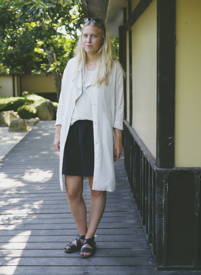 Tencel trenchcoat summer outfit bedremodenu