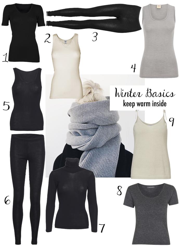 winter basics keep warm inside