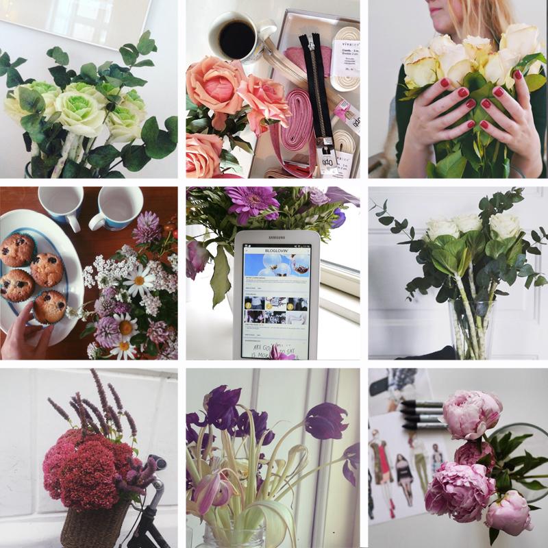 blomster på instagram