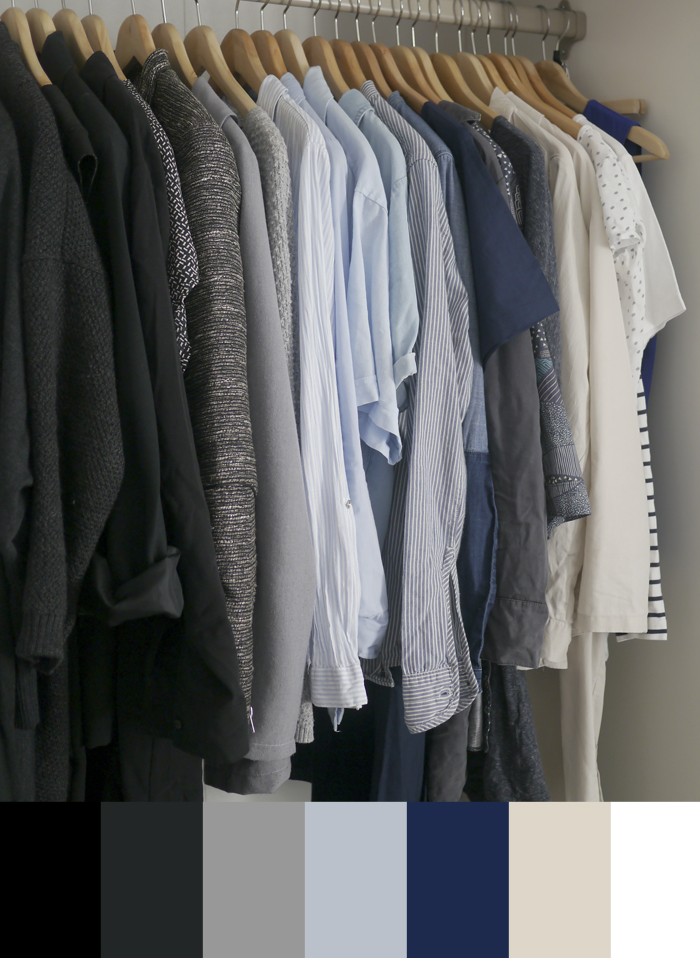 garderobe makeover color palette