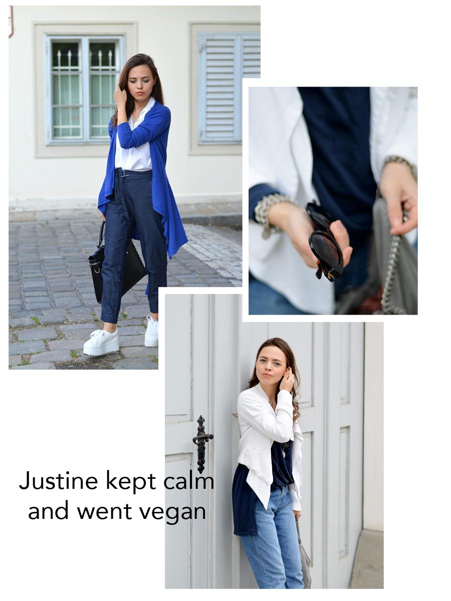 Justine kept calm and went vegan