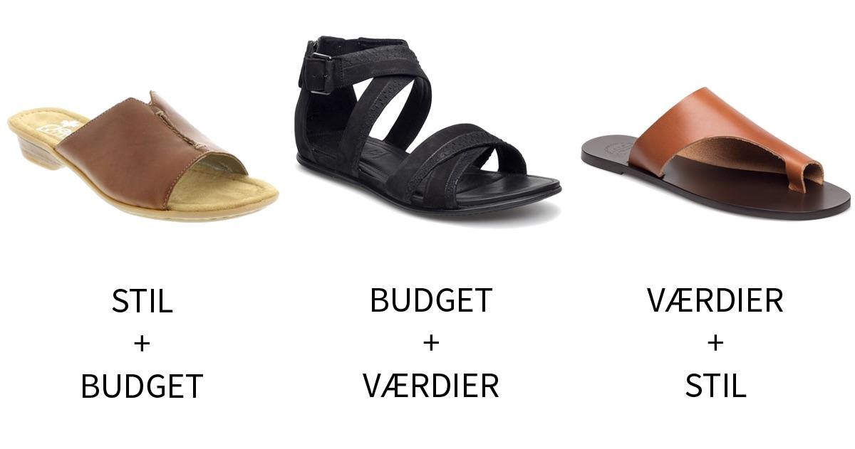 Stil budget og værdier sandaler 3