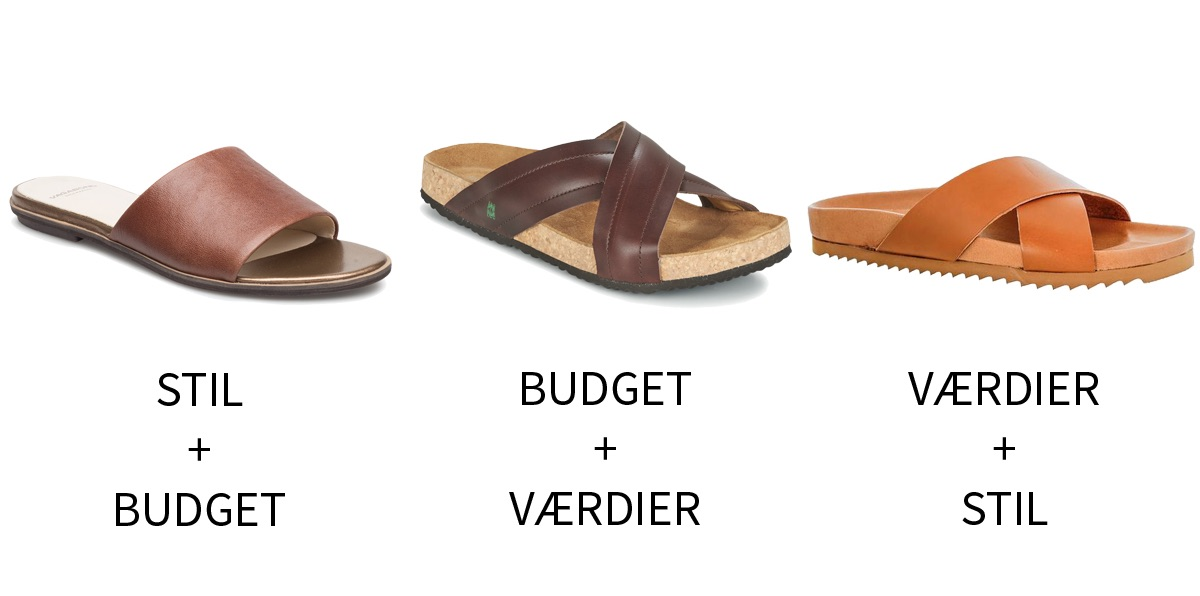 Stil budget og værdier sandaler 4