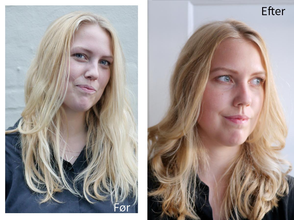frisør før og efter