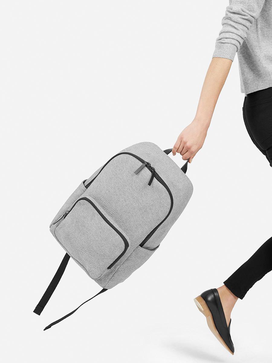 lille rygsæk i læder