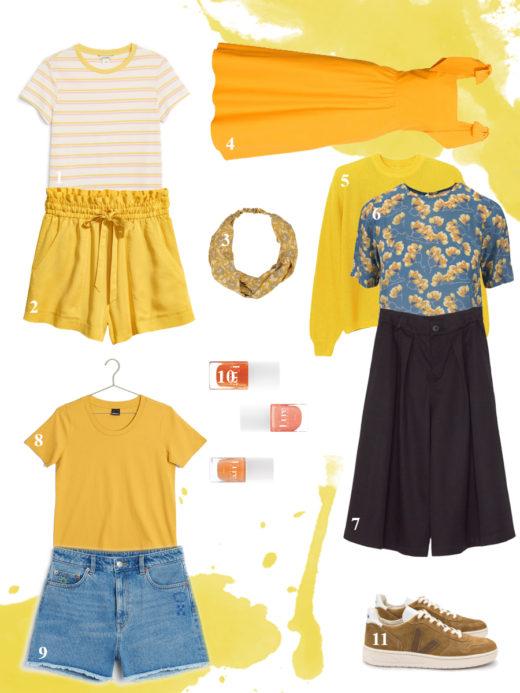 gult bæredygtigt tøj