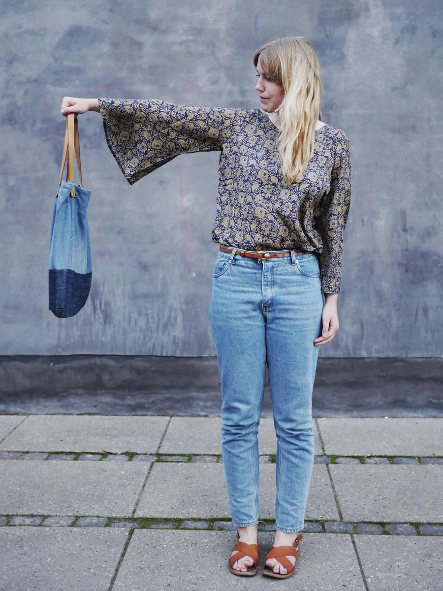 Outfit: Upcycling fra kjole til bluse