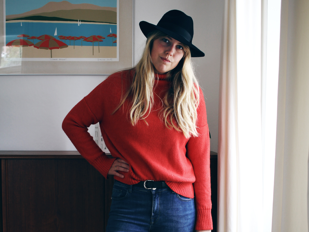 3 måder at style rød sweater 1_1