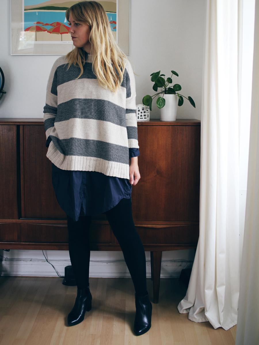 3 måder at style stribet sweater 3